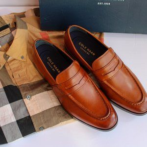 NWT Men's Cole Haan British Tan Loafers